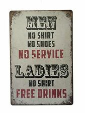 PLACCA di Metallo Latta Vintage Arredamento Pub Taverna Bar sign poster parete Negozio Casa Retrò