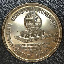1964 CANADIAN CENTENNIAL NUMISMATIC PARK Sudbury, Ont. MEDAL/TOKEN - Big Nickel