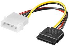 Strom-Adapter 4pol. Stecker auf S-ATA (4-pol. 5.25-Powerstecker / 15-pol. S-ATA)