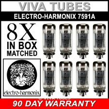 Brand New Current Matched Octet (8) 7591A Electro-Harmonix Vacuum Tubes