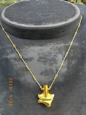 Lapponia 585er GOLD COLLIER mit NATUR GRÜNACHAT