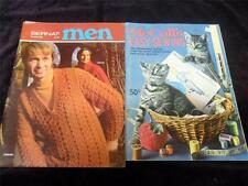 LOT of 57 Crochet Cross Stitch Pattern Books & Magazines,Needlework,Knitting