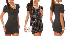 Womans Mini Dress Bodycon Casual Party Colours Size 8-12 Holiday Dot Tunic 3045A