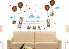 Large Beautiful Peel & Stick Removable Wall Sticker Decal Balloon Photo Frame