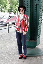 Chaqueta señora jacket rojo red azul blanco white 60er True vintage 60s rockabilly