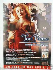 "TORI AMOS ""ORIGINAL SINSUALITY TOUR"" 2005 AUSTRALIAN CONCERT POSTER - Piano Rock"