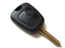 Peugeot Boxer Expert Partner 2 Button Remote Key Fob + Blank Key Blade