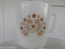 Pyrex Mugs Summer Impressions Milkglass lot of 2 white