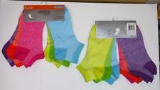 Danskin Girls No Show Socks 2- 6 Packs Size LG 4-10 Multi Colors 12 Pairs