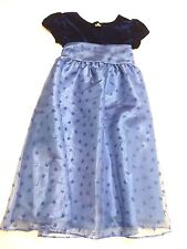 Jona Michelle Blue Sparkly Special Occasion Empire Waist Dress Girls Size 6