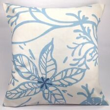 """Clarke and Clarke Coral Marine Blue and White 16"""" Cushion Cover"""