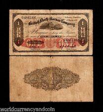 BRITISH NORTH BORNEO 1 DOLLAR P-28 1936 MT.KINABALU RARE MALAYSIA MONEY BANKNOTE
