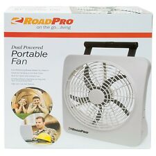 "10"" Car 12V or Eight ""D"" Batteries, Battery Dual Power, Powered Portable Fan"