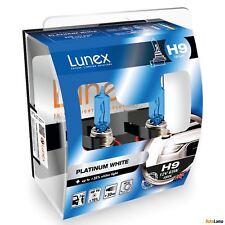 2x H9 Genuine Lunex Platinum White 65W 12V 709 Car Halogen Headlight Bulbs 4000K
