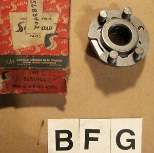 OE 1956 Buick Power Steering Worm Thrust Bearing & Spring ~ 5683402
