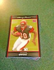 2007 Bowman Chrome Football--Complete Rookie Set 1-55 mint from packs