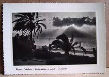 Reggio Calabria - passeggiata a mare - tramonto [grande, b/n, viaggiata]