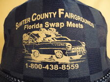 Men's Blue Checkered Sumter County Fairgrounds Florida Swap Meets Trucker Cap
