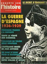 Enquête on l'histoire N° 16 - LA GUERRE D'ESPAGNE 1936-1939