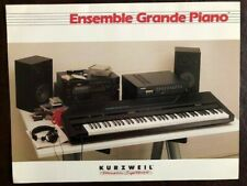 Kurzweil Music Systems Ensemble Grande Piano 1988 Color Brochure W/Comp. Specs.