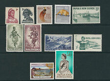 PAPUA and NEW GUINEA 1961-3 definitives (Scott 153-63 to one pound) VF MLH/MNH