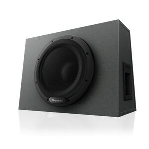 """Pioneer TS-WX1010A 1100 W 10"""" Amplified Shallow Truck Subwoofer Box Enclosure"""