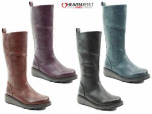 Ladies Heavenly Feet Boots Mid Calf Comfort Tall Stylish Casual Winter Fashion