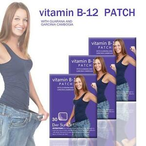 60day Vitamin B12 Energy Patch b-12 Guarana Garcinia cambogia  Patch