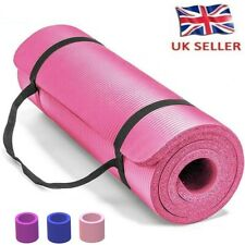 Yoga Mat Gym Exercise Thick Fitness Physio Pilates Soft Mat Non Slip 60x25x1.5cm