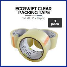 3 Rolls Carton Box Sealing Packaging Packing Tape 20mil 2 X 55 Yard 165 Ft