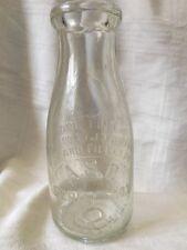 Vintage Pint Milk Bottle Argo Sanitary Dairy Argo Illinois