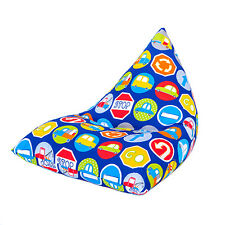 Road Signs Large Children's Kids Pyramid Bean Bag Chair Gaming Beanbag Gamer