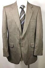 Pierre Cardin Vtg Wool Men Sport Coat 38R Brown Classic Blazer Jacket Coat USA