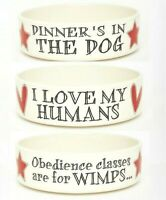 Sweet William FUNNY Ceramic Dog Food or Water Bowls / Cat Dish   Large & Small