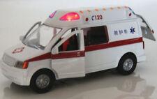 Alloy Model Toys 1/32 Diecast Car White Ambulance Medical vehicles w/Light&Sound