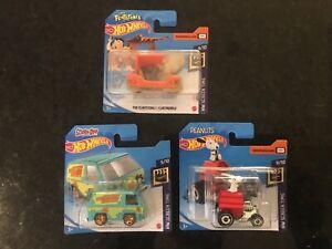 Hot Wheels  - Cartoon TV Cars - Scooby Doo - Flintstones - Snoopy - New