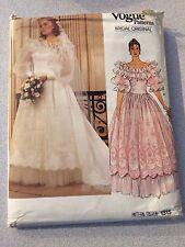 UNCUT Vogue 1315 Sewing Pattern, Bridal Gown & Petticoat, Size 10, Vintage