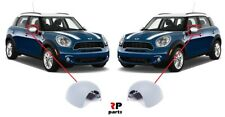 FOR MINI COOPER ONE CLUBMAN 07-15 WING MIRROR COVER CAP PRIMED PAIR NO FOLDING