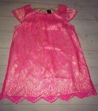 Baby Gap Holiday Wonderland Hot Pink Gold Lace Dress Girls 18 24 Free Ship