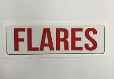 """Safety Decal Boat Marine """"Flares"""""""