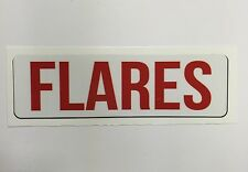 "Safety Decal Boat Marine ""Flares"" Aftermarket DECALFLARE"