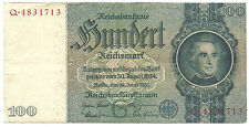 WW2 ORIGINAL NAZI Germany Third Reichs Banknote 100 Reichsmark 1935/Q