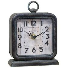 Primitive Reproduction  Metal **Antiques**Clock** Battery Operated*Nice Patina!