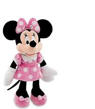 "Disney 18"" Minnie Mouse in Pink Dress Plush Stuffed Official Disney Licensed Toy"
