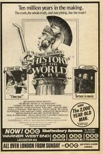 10/10/81PN29 MOVIE ADVERT 7X5 MEL BROOKS HISTORY OF THE WORLD PART 1