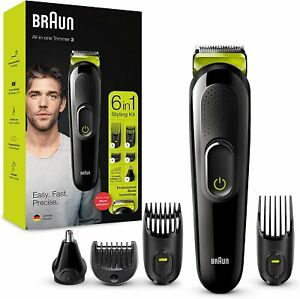 Hair Clippers Beard Trimmer Cordless Rechargeable Body Shaver Grooming Kit 6In1
