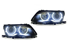 UHP LED Angel Eye Projector Headlight Set for 02-03 BMW E46 2D 3 Series/02-06 M3