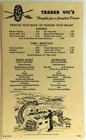 1978 Original Dinner Menu TRADER VIC'S Restaurant