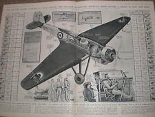 SQUADRIGLIA SWAIN World Record di altitudine Bristol 138 AEREI 1936 Print