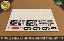 """Kyosho Mini-Z Porsche 934 """"VAILLANT"""" Auto Scale Body RC Decal Stickers R/C"""